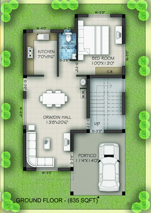 Royal Villa : Ground Floor Plan