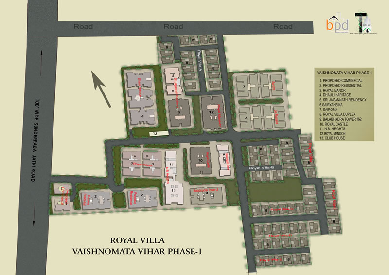 Royal Villa : Layout Plan
