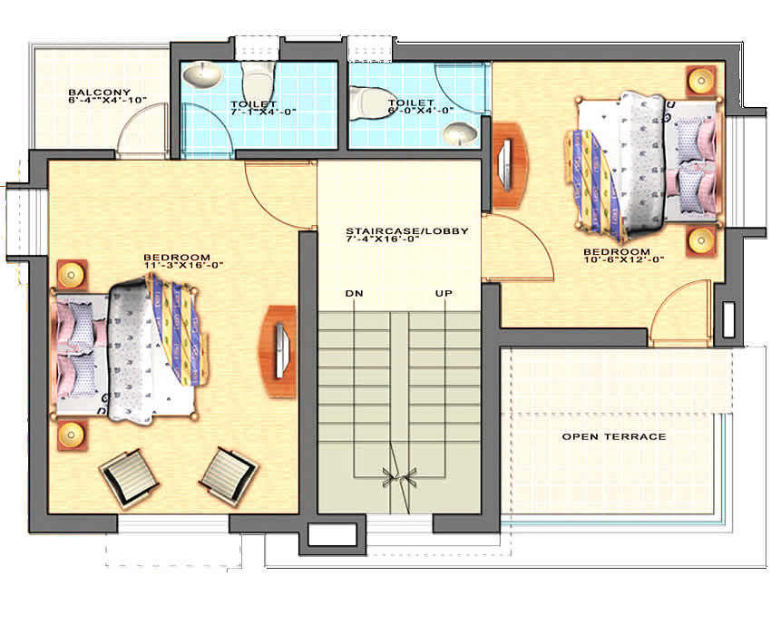 Trellis Topaz : First Floor Plan