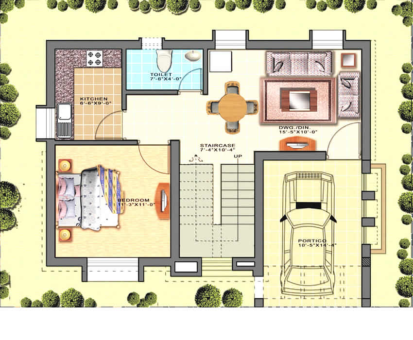 Trellis Topaz : Ground Floor Plan